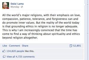 la religión ya no es suficiente_dalai-lama-facebook
