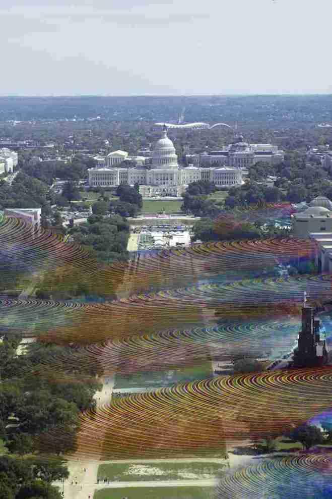 Artista ilustra la densidad de las redes Wi-Fi que surcan el espacio público de Washintong D.C.-00
