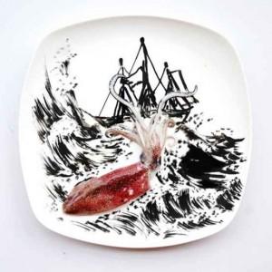 Hong Yi  obras de arte con comida-06
