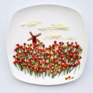 Hong Yi  obras de arte con comida-08