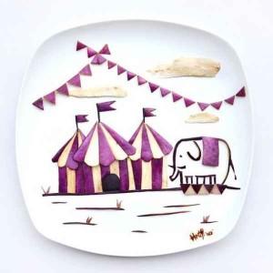 Hong Yi  obras de arte con comida-09