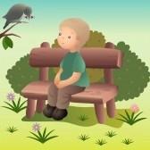 Como meditar en un banco del parque
