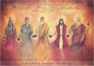 Sin religión, sin fronteras, sin razas Todos somos Uno-maestros espirituales-00