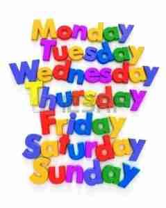Los días de la semana y los colores-00