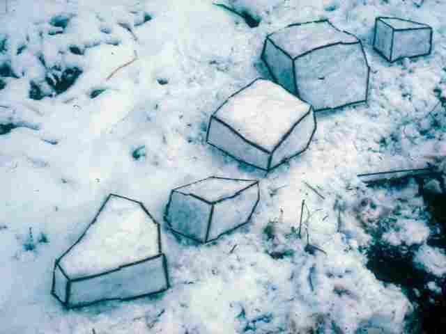 El arte efímero de Andy Golsworthy-Viaje Hacia Si Mismo-Snow-Sculpture