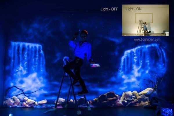 Murales mágicos que brillan en la oscuridad - Viaje Hacia Si Mismo -22