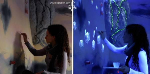 Murales mágicos que brillan en la oscuridad - Viaje Hacia Si Mismo -66