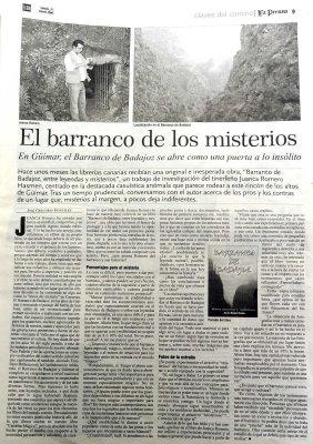 Canarias, vacaciones de Misterio como alternativa Turística-El Barranco de Badajoz-Viaje Hacia Si Mismo
