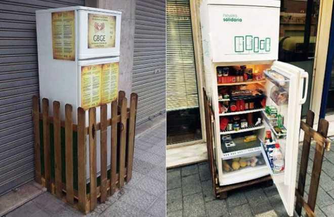 El Frigorífico Solidario de España salva de la basura cientos de kilos de alimentos-Viaje Hacia Si Mismo