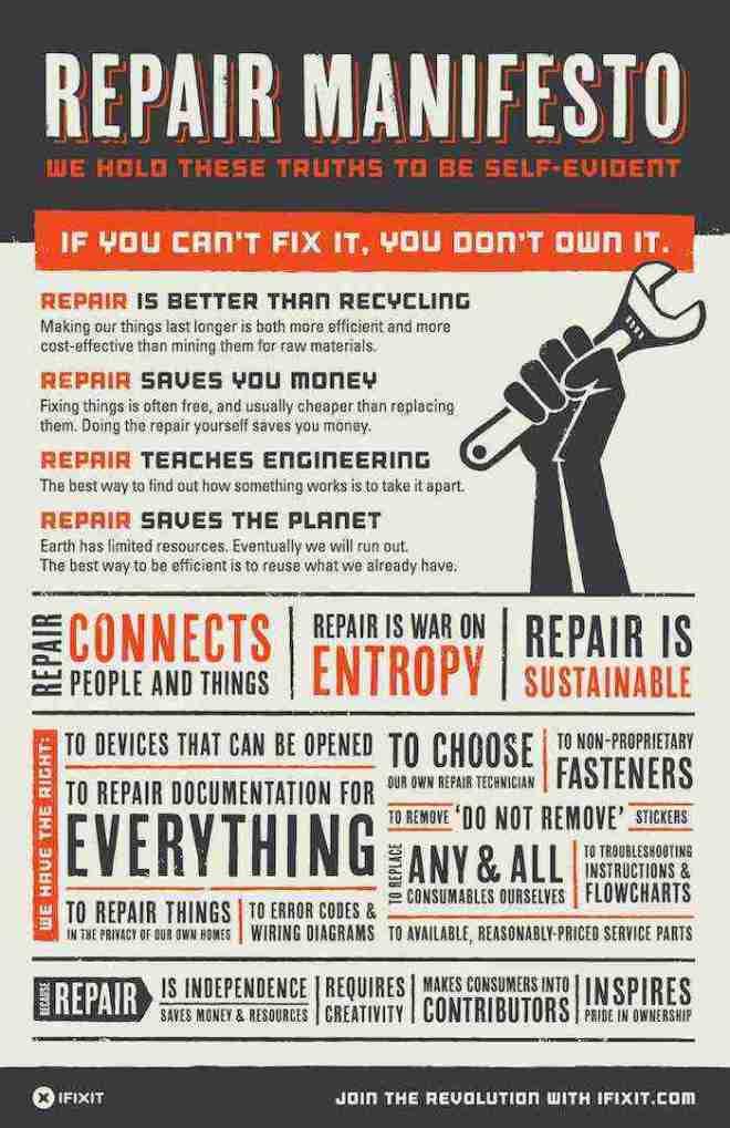 Manifiesto por la autorreparación, reparar es mejor que reciclar-Viaje Hacia si mismo